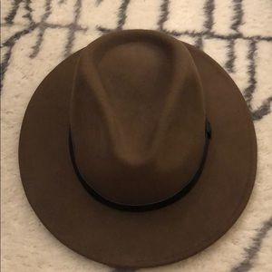 Brixton brown wool hat